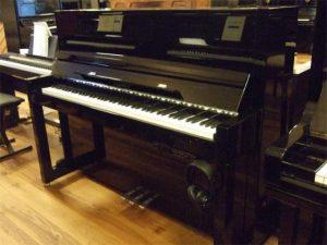 feurich piano 115 silent feurich premium zwart hoogglans chroom open