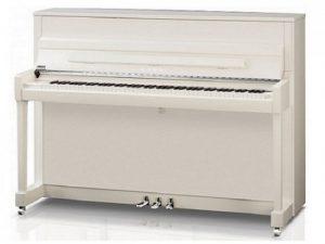 kawai piano k200 wit hoogglans chroom stock