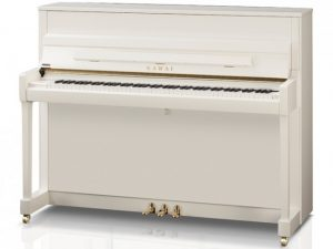 kawai piano k200 wit hoogglans messing stock