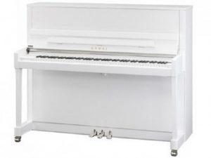 kawai piano k300 wit hoogglans chroom stock