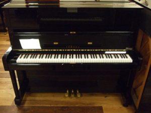 yamaha piano u1h zwart hoogglans messing open