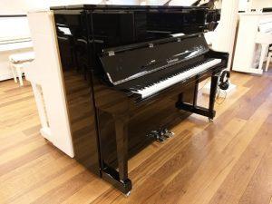 liedermann piano 122 silent genio premium zwart hoogglans chroom open