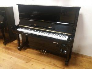 yamaha piano u3h silent genio premium zwart hoogglans messing open
