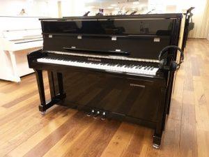 liedermann piano 112 classic silent genio premium zwart hoogglans chroom open