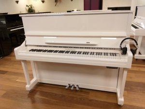 liedermann piano 122 silent genio premium wit hoogglans chroom open