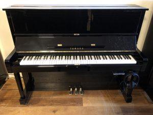 yamaha piano u1h silent genio premium zwart hoogglans messing open