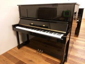 kawai piano k35 silent genio premium zwart hoogglans messing open