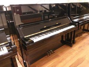 yamaha piano ux silent genio premium zwart hoogglans messing open