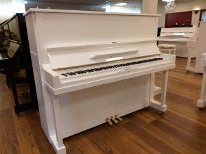kawai piano 124 k8 silent genio premium wit hoogglans messing open